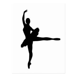 BALLETT-TÄNZER Arabeske (Ballerina-Silhouette) ~.p Postkarte