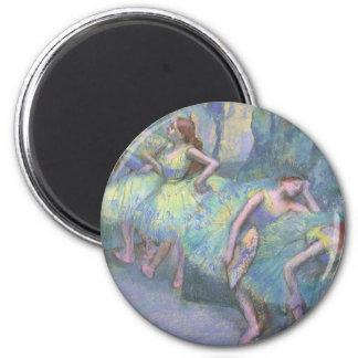 Ballett-Tänzer in den Flügeln durch Edgar Degas Runder Magnet 5,7 Cm
