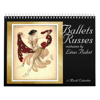 Balletts Russes Kostüme durch Bakst - tragen Sie Abreißkalender