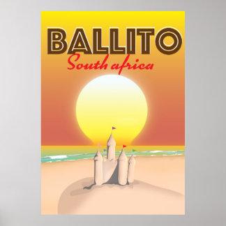 Ballito südafrikanisches Reiseplakat Poster