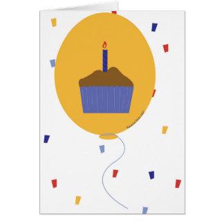 Ballon-kleiner Kuchen 2007 Karte
