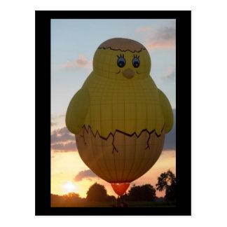 Ballon kuiken2 postkarte