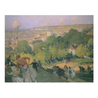 Ballon-Landung bei vor St.-Gervais, c.1885 Postkarte