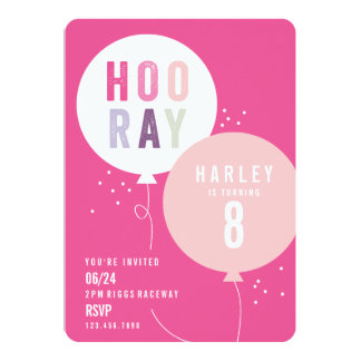 Ballonbündel-Kindergeburtstag-Party Einladung