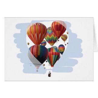 Ballone in einem Ballon Karte