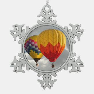BALLONE SCHNEEFLOCKEN Zinn-Ornament