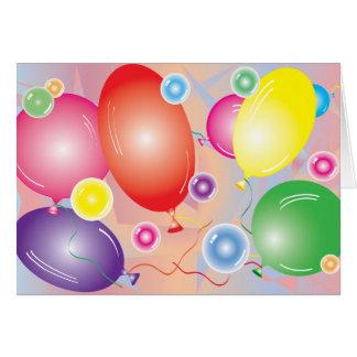 Ballons u. Blasen, die Karte greating sind