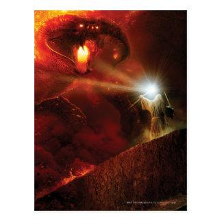 Balrog gegen Gandalf Postkarte