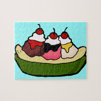 Banana- splitsüße Eiscreme-Leckerei Puzzle