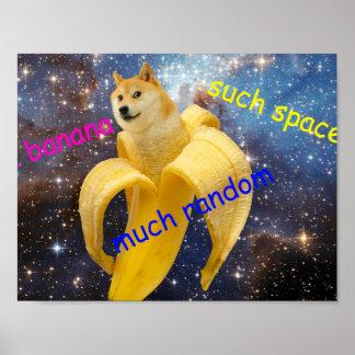 Banane   - Doge - shibe - Raum - wow Doge Poster
