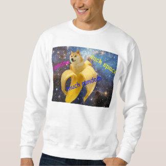 Banane   - Doge - shibe - Raum - wow Doge Sweatshirt