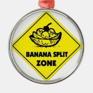 Banane-Spaltezone Silbernes Ornament