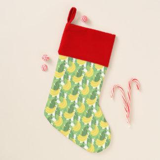 Bananen-Blätter und Frucht-Muster Weihnachtsstrumpf