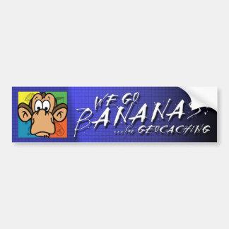 Bananen für Geocaching Autoaufkleber