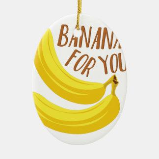 Bananen für Sie Keramik Ornament