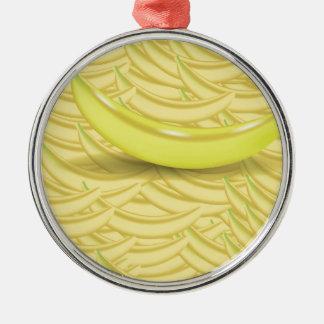 Bananen-Hintergrund Silbernes Ornament