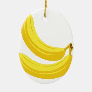 Bananen Keramik Ornament