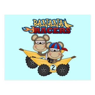 Bananen-Rennläufer-T-Shirts und Geschenke Postkarten