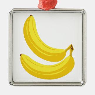 Bananen Silbernes Ornament