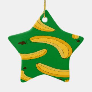 Bananenfruchtmuster Keramik Ornament