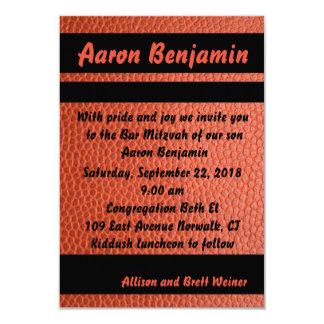 Band-Bar Mitzvah Einladungs-Orange Karte