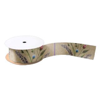 Band diese Matchverpackung Papier-mit Blumen Satinband