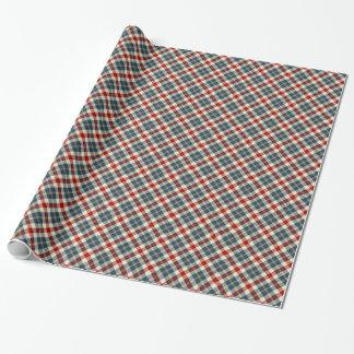 Bandana-Denim-Farbtartan-kariertes Muster Geschenkpapier