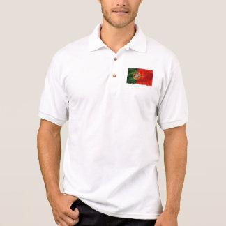 Bandeira Portuguesa - Estilo Retro Polo Shirt