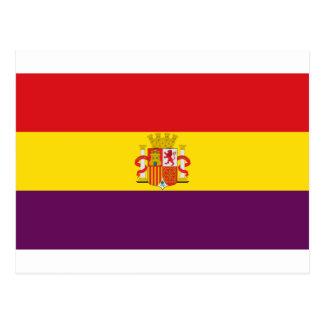 Bandera de la República Española Postkarte