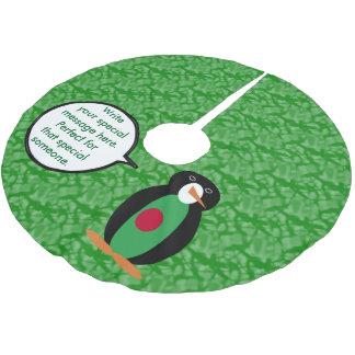Bangladeschischer Feiertags-Herr Penguin Polyester Weihnachtsbaumdecke