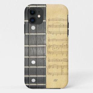 Banjo Fretboard Noten iPhone 5 Fall iPhone 11 Hülle