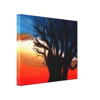 Baobab-Baum-Malerei Gespannte Galerie Drucke