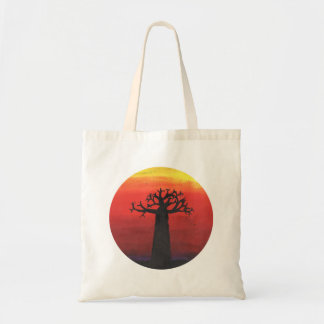 Baobab-Sonnenuntergang Budget Stoffbeutel