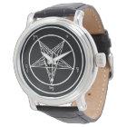 Baphomet Kirche von Satan elegant Uhr
