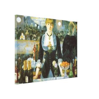Bar beim Folies Bergere durch Manet, Vintage Kunst Leinwanddruck