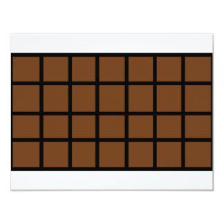 Bar der Schokoladenikone 10,8 X 14 Cm Einladungskarte