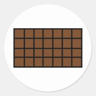 Bar der Schokoladenikone Runde Aufkleber