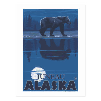 Bär im Mondschein - Juneau, Alaska Postkarte