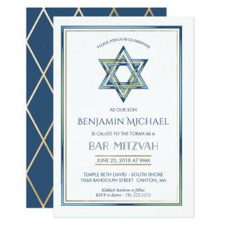 Bar Mitzvah Einladung - Davidsstern Mit Gold