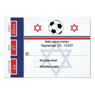 Bar Mitzvah Fußball-Karte UAWG 8,9 X 12,7 Cm Einladungskarte