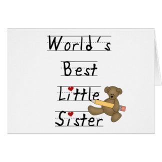 Bär und Bleistift-beste kleine Schwester Karte