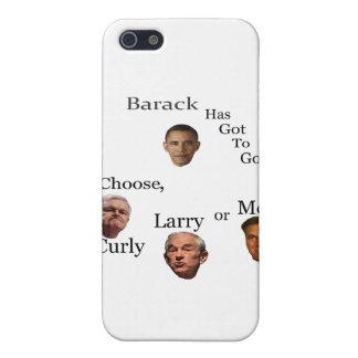 Barack muss gehen wählen gelockten Larry oder Moe iPhone 5 Schutzhülle
