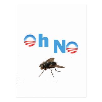 Barack Obama der Fliegen-Mörder Postkarte