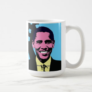 Barack Obama mit Pop-Kunst-Art Tasse