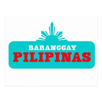 Baranggay Pilipinas Customizables Postkarte