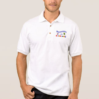 Barbados - (Seeflaggen-Rechtschreibung) Poloshirt