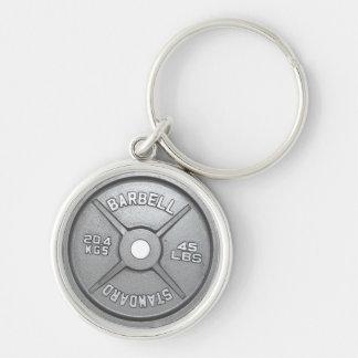 Barbell-Platte Schlüsselanhänger