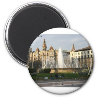 Barcelona--Piazza--Catalunya--[kan.k] .JPG Kühlschrankmagnet