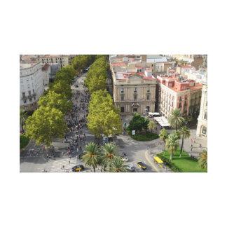 Barcelona, Spanien Leinwanddruck