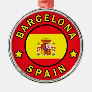Barcelona Spanien Silbernes Ornament